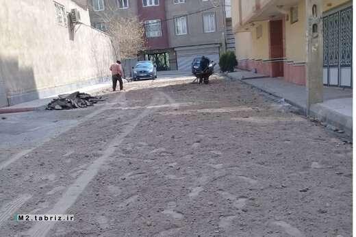 زیرسازی خیابان فردوس در ائل گلی رو به اتمام است