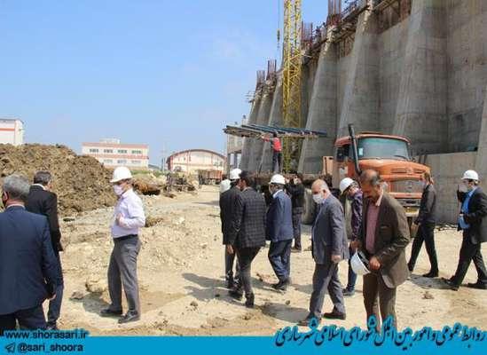 بازدید علیجان شمشیربند رئیس شورای اسلامی شهر ساری به اتفاق مدیران استانی وشهری از پروژه نیروگاه زباله سوز ساری