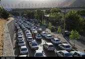 ترافیک سنگین در آزادراه تهران-کرج-قزوین