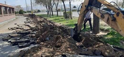 آغاز فاز نهایی طرح توسعه شبکه آبیاری قطره ای در شهرداری منطقه ۶ تبریز