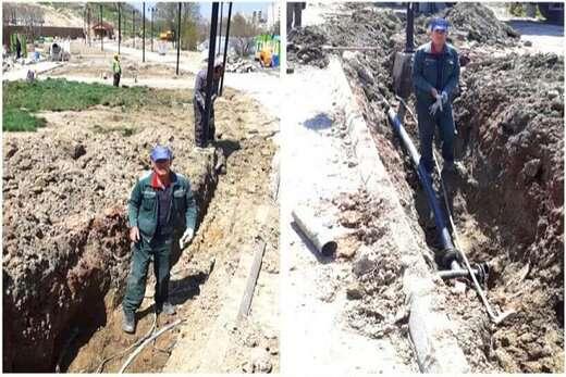 اجرای عملیات راه اندازی شبکه آب خام در راستای بهبود راندمان آبیاری