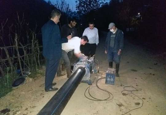 رفع ضعف فشار آب شرب 34 روستای بخش اطاقور شهرستان لنگرود
