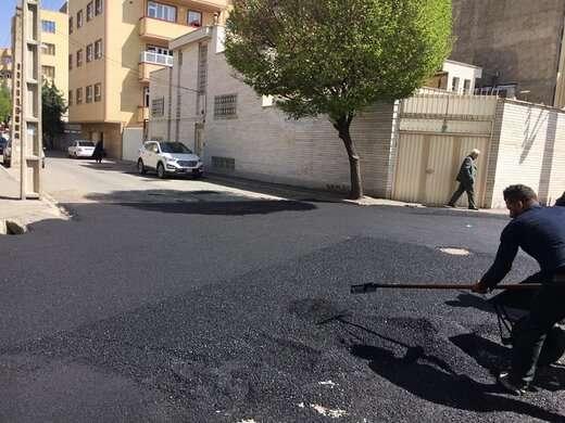 توزیع بیش از ۲۲۰۰ تن آسفالت در شهرداری منطقه ۶ تبریز