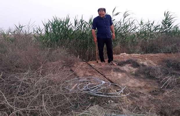 دستگیری دو سارق در شبکه آبیاری رامشیر