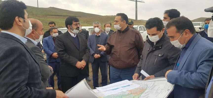 بازدید استاندار اردبیل و مدیرعامل شرکت آب منطقه ای اردبیل...