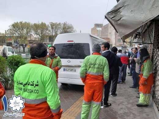 تست غربالگری کرونا از نیروهای خدمات شهری منطقه ۱ تبریز