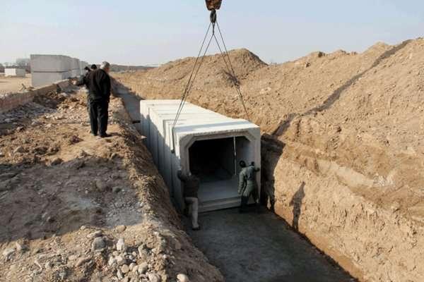 عملیات احداث فاز سوم کانال بتنی اسلامشهر به طول ۶۰۰ متر شروع شد