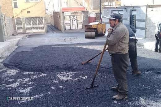 اتمام زیرسازی ۱۰ متری پنجم شرقی خیابان فردوس ائل گلی