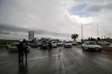 جادههای شش استان کشور بارانی است