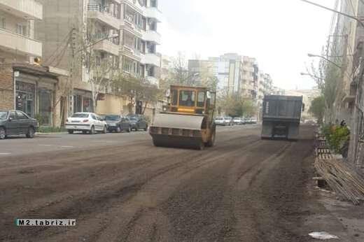 اتمام عملیات زیرسازی خیابان های بابائی ۱ و ۲ شهرک پرواز