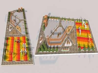 طراحی فضای سبز و بازیگاه کودک در شهرک ناصرآباد به اتمام رسید