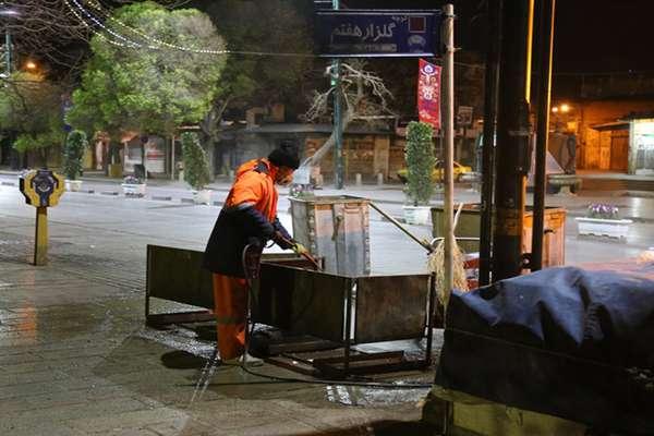 معابر و اماکن پرتردد شهر قزوین گندزدایی می شود