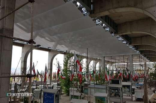 تسریع عملیات اجرای سقف کامپوزیت پروژه فاز ۲ مسقف سازی گلزار شهدا