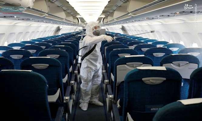 ضد عفونی مداوم بارهای مسافران هوایی + فیلم