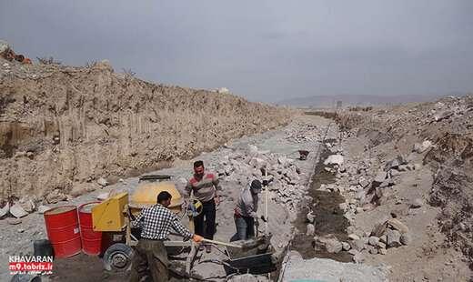 احداث کانال فرا منطقه ای جمع آوری آب های سطحی در شهرک خاوران
