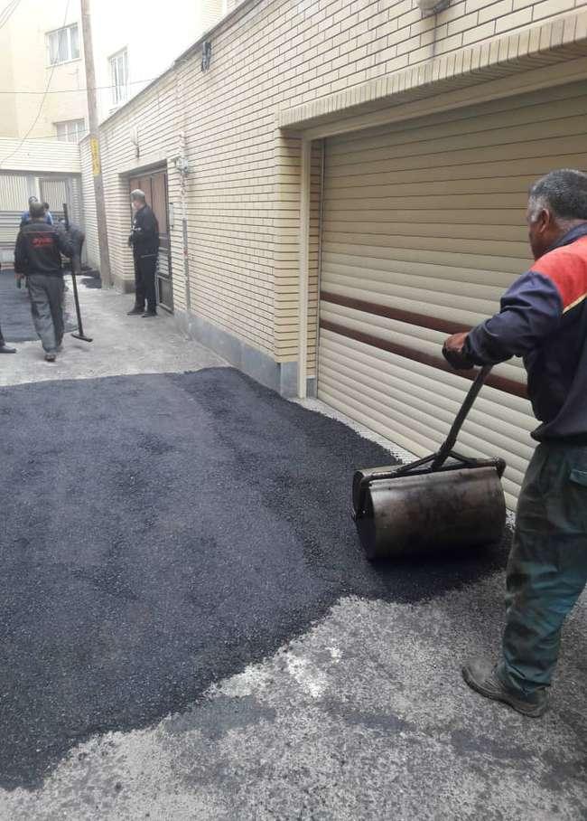 آسفالتریزی و لکهگیری محلات خیابان رضانژاد، دمشقیه و مطهری