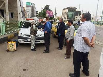 به منظور پیشگیری از ویروس کرونا، تست غربالگری رانندگان تاکسی آغاز شد