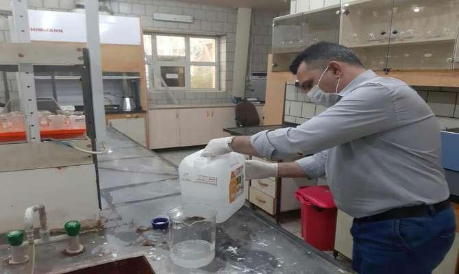 توان تولید 30 هزار لیتر محلول ضدعفونی کننده سطوح در نیروگاه شهید سلیمانی کرمان