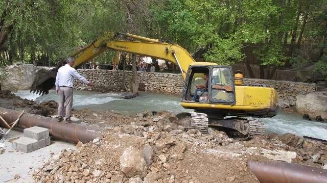 آزادسازی 15 هکتار از اراضی بستر رودخانه مهریان در یاسوج