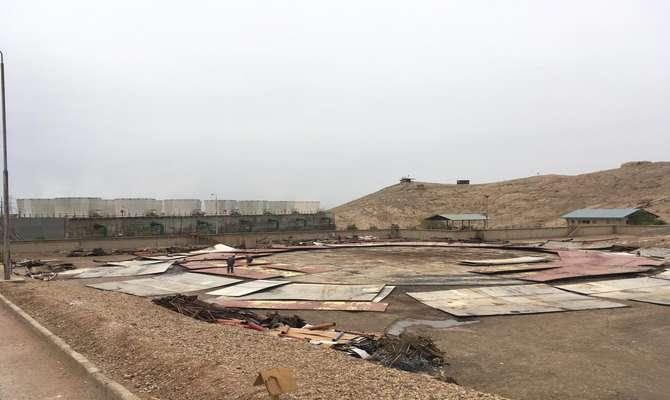 آماده سازی محل نصب برج خنک کننده خشک نیروگاه اصفهان