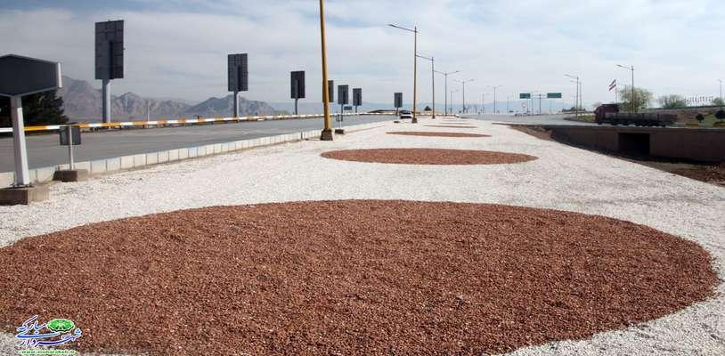 طراحی و زیباسازی ورودی شهرمبارکه با هدف کاهش سطح چمن و مدیریت مصرف آب