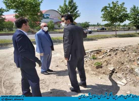 بازدید سید علی آقامیری عضو شورای اسلامی شهر ساری از کمربندی جنوبی