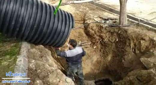 مشکل هدایت آب های سطحی در زیرگذر کوی لاله رفع شد
