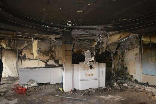 آتش سوزی مغازه ای در پاساژ شب شهر ولیعصر اطفاء حریق شد