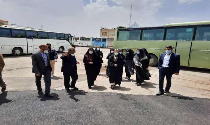 بازدید بانوان عضوشورای شهر قزوین از پروژههای پایانه مسافربری آزادگان