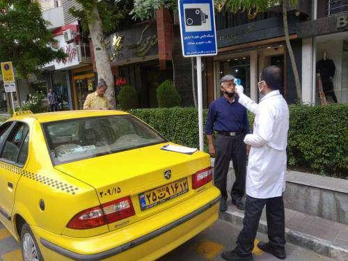 تست غربالگری روزانه ۱۲۰۰ تاکسیران در شهر