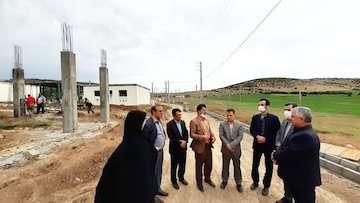 بازدید از روند بازسازی واحدهای مسکونی روستای قلعه قافه گلستان