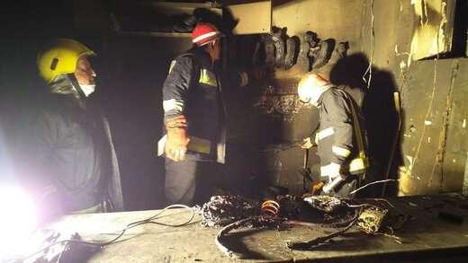 آتش سوزی کارگاه تولیدی کفش در بازارچه دوه چی اطفاء شد