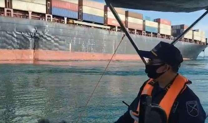 حادثه برای کشتی باری ایران در آب های سنگاپور + عکس