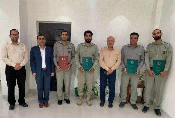 کسب مقام برتر یگان اداره کل حفاظت محیط زیست استان بوشهر