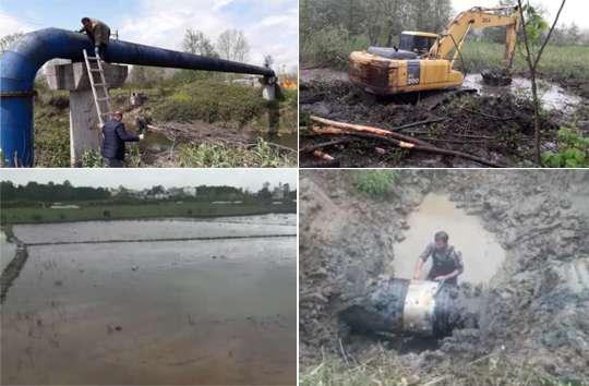 رفع مشکل کمبود آب برخی روستاهای شرق گیلان با رفع دو نشتی بزرگ در خط انتقال
