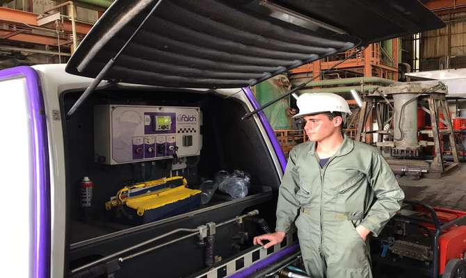 جت پرشر لوله های مسدود کندانسور واحد چهار بخار نیروگاه بندرعباس
