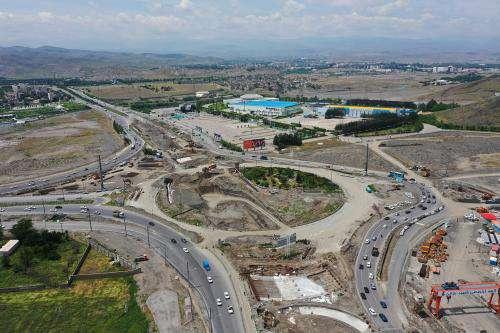 عملیات اجرایی احداث تقاطع چهار سطحی آزادگان روند مناسبی دارد/ بخشی از  ...