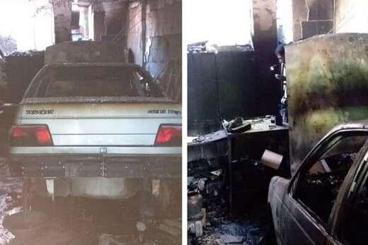بی احتیاطی حادثه ساز شد/ آتش سوزی تعمیرگاه خودرو در بلوار ملاصدرا
