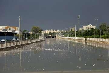 جادههای استانهای قم و مازندارن بارانی است