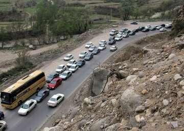 ترافیک در جاده هراز سنگین شد