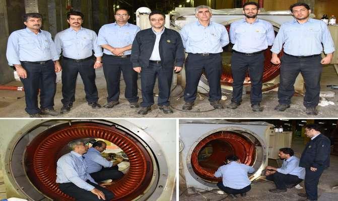 متخصصان نیروگاه شهید رجایی به انجام رساندند؛ تعمیر اساسی یک دستگاه الکتروموتور 6/6 کیلوولت
