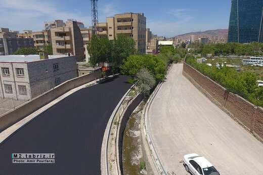 اتمام آسفالت ریزی پروژه بازگشائی خیابان شهید صادقی