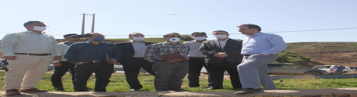 بازدید مدیرکل دفتر نظارت و ارزیابی امور عمرانی از روستای حسین آباد کالپوش