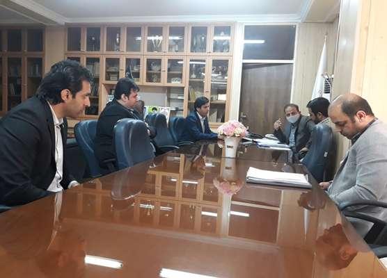 دیدار مدیرکل و معاونین بنیاد مسکن استان با مدیرعامل بانک مهر ایران