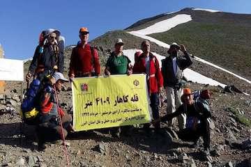 صعود موفق منتخبان وزارت راه و شهرسازی به قله کاهار