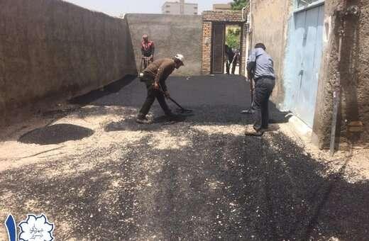 اجرای ۳۰۰ تن آسفالتریزی در مسیرهای عباسی، بیلانکوه و منصور شمالی