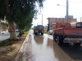 تداوم اجرای طرح ضدعفونی معابر شهری و مراکز پرتردد شهر توسط شهرداری مهران