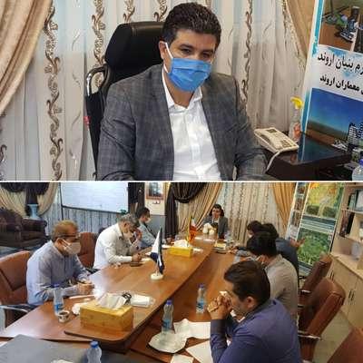 مشروح جلسه شهرسازی شهرداری خرمشهر به ریاست داود دارابی شهردار خرمشهر