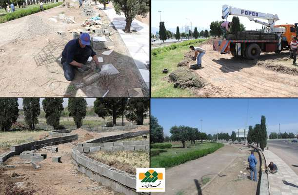 احمد عبدالله زاده :50درصد از عملیات بهسازی فضای سبز میدان امام خمینی (ره) به انجام رسیده است .