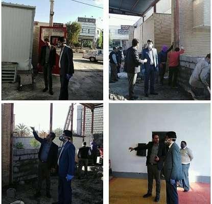 بازدی شهردار بم از روند توسعه ایستگاه شماره 1 سازمان آتش نشانی